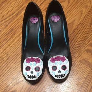 T.U.K Day Of The Dead Heels